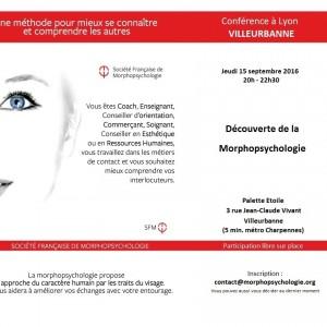 Flyer conférence morphopsychologie LYON